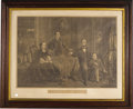 Political:3D & Other Display (pre-1896), Abraham Lincoln: A Fine Large, Vintage-Framed Print of Lincoln with His Family by Haskell & Allen, Boston, Massachusetts. Se...