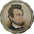 Political:3D & Other Display (pre-1896), Abraham Lincoln: A Superb 1891-Dated, Signed Hand-Painted ChinaWall Plaque. Basically similar to a dinner plate, but with a...