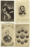 Photography:CDVs, Abraham Lincoln CDV Collection. A good group of 16 cartes de visite including formal portraits, several family compositi... (Total: 16 )