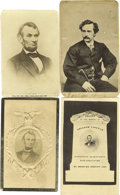 Photography:CDVs, Abraham Lincoln Assassination and Mourning CDVs A fine set of thirteen (13) cartes-de-visite related to Lincoln's assass... (Total: 13 )