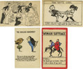 Miscellaneous:Ephemera, Group of Four English Suffrage Postcards. Sponsoring organizationsare not identified on these cards, but they all probably ...(Total: 4 )