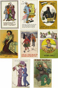 Miscellaneous:Ephemera, Sixteen Humorous Postcards Relating to English Suffragettes. Comiccards are relevant to the suffrage historian because they...(Total: 16 )