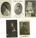 Autographs:Celebrities, Eleven English Suffrage-Related Autographed Postcards. It was common practice for leading English suffragists to autograph p... (Total: 11 )