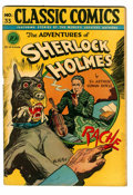 Golden Age (1938-1955):Classics Illustrated, Classic Comics #33 The Adventures of Sherlock Holmes - OriginalEdition (Gilberton, 1947) Condition: VG+....