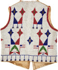 American Indian Art:Beadwork and Quillwork, A SIOUX CHILD'S PICTORIAL BEADED HIDE VEST. c. 1890...