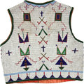 American Indian Art:Beadwork and Quillwork, A SIOUX PICTORIAL BEADED HIDE VEST. c. 1890...