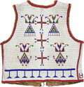 American Indian Art:Beadwork and Quillwork, A SIOUX BEADED HIDE VEST. c. 1890...
