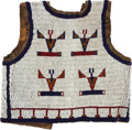 American Indian Art:Beadwork and Quillwork, A SIOUX CHILD'S BEADED BUFFALO HIDE VEST. c. 1890...