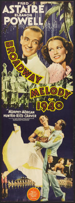 """Broadway Melody of 1940 (MGM, 1940). Insert (12.5"""" X 34.5""""). Musical"""