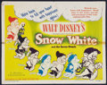 "Movie Posters:Animation, Snow White and the Seven Dwarfs (RKO, R-1943). Half Sheet (22"" X28""). Animation.. ..."