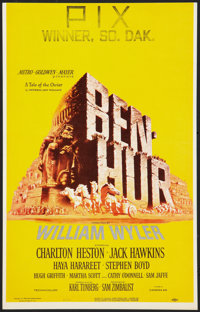 "Ben-Hur (MGM, 1959). Window Card (14"" X 22"") and Hardcover Program (Multiple Pages, 8.25"" X 11.25"")..."