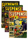 Golden Age (1938-1955):Horror, Suspense #4, 12, and 14 Group (Atlas, 1950-52).... (Total: 3 ComicBooks)
