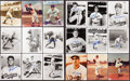 Baseball Collectibles:Photos, Brooklyn Dodgers Signed Photograph Lot of 18....
