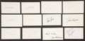 Baseball Collectibles:Others, 1974 Major League Baseball Debut Year Signed Index Cards andGovernment Postcards Lot of 137.. ...