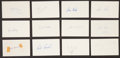 Baseball Collectibles:Others, 1972 Major League Baseball Debut Year Signed Index Cards andGovernment Postcards Lot of 141....
