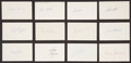 Baseball Collectibles:Others, 1971 Major League Baseball Debut Year Signed Index Cards andGovernment Postcards Lot of 121.. ...