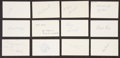 Baseball Collectibles:Others, 1969 Major League Baseball Debut Year Signed Index Cards andGovernment Postcards Lot of 191.. ...