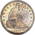 Seated Dollars, 1860 $1 MS64 PCGS. CAC....