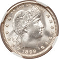 Barber Quarters, 1899-O 25C MS65 NGC....