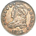 Bust Dimes, 1823/2 10C Large Es MS63 NGC. JR-3, R.2....
