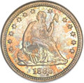 Seated Quarters, 1888 25C MS66 NGC. CAC....