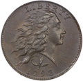 Large Cents, 1793 1C Wreath Cent, Vine and Bars MS61 Brown NGC. S-5, B-6, LowR.4....