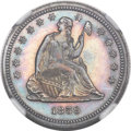 Proof Seated Quarters, 1859 25C PR64+ NGC. CAC....