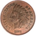 Indian Cents, 1873 1C Doubled LIBERTY, Closed 3 XF40 PCGS. Snow-1. FS-101....