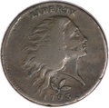 Large Cents, 1793 1C Wreath Cent, Vine and Bars VG10 PCGS. CAC. S-6, B-7,R.3....