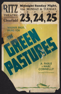 "The Green Pastures Lot (Warner Brothers, 1936). Window Cards (3) (14"" X 22""). Black Films. ... (Total: 3 Items..."