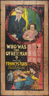 """Who Was the Other Man? (Universal, 1917). Three Sheet (40.5"""" X 78.5""""). Adventure"""
