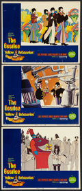 "Movie Posters:Animated, Yellow Submarine (United Artists, 1968). Lobby Cards (3) (11"" X14""). Animated.. ... (Total: 3 Items)"