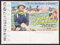 """She Wore a Yellow Ribbon (RKO, 1949). Pressbook (Multiple Pages) (12"""" X 18""""). Western"""