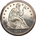 Proof Seated Dollars, 1871 $1 PR63 Cameo PCGS....