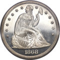 Proof Seated Dollars, 1868 $1 PR64 Cameo PCGS....