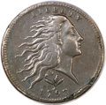 Large Cents, 1793 1C Wreath Cent, Vine and Bars VF25 PCGS. S-10, B-10, R.4....