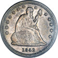 Seated Quarters, 1842-O 25C Small Date VF35 PCGS....