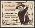 "Movie Posters:Western, She Wore a Yellow Ribbon (RKO, R-1954). Half Sheet (22"" X 28""). Western.. ..."