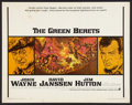 "Movie Posters:War, The Green Berets (Warner Brothers, 1968). Half Sheet (22"" X 28"").War.. ..."