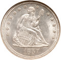 Seated Quarters, 1857 25C MS65 NGC....