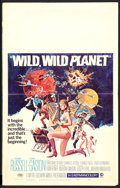 "Movie Posters:Science Fiction, Wild, Wild Planet (MGM, 1967). Window Card (14"" X 22""). ScienceFiction.. ..."
