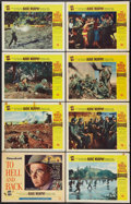 """Movie Posters:War, To Hell and Back (Universal International, 1955). Lobby Card Set of8 (11"""" X 14""""). War.. ... (Total: 8 Items)"""