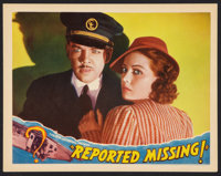 """Reported Missing (Universal, 1937). Lobby Card (11"""" X 14""""). Thriller"""