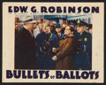 "Movie Posters:Crime, Bullets or Ballots (Warner Brothers, 1936). Lobby Card (11"" X 14""). Crime.. ..."