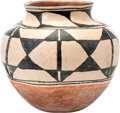 American Indian Art:Pottery, A SANTO DOMINGO POLYCHROME STORAGE JAR. c. 1900...