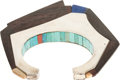 Paintings, A HOPI SILVER AND STONE BRACELET. Charles Loloma. c. 1975...