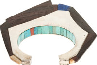 A HOPI SILVER AND STONE BRACELET Charles Loloma c. 1975