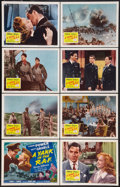"""Movie Posters:War, A Yank in the R.A.F. (20th Century Fox, R-1953). Lobby Card Set of8 (11"""" X 14""""). War.. ... (Total: 8 Items)"""