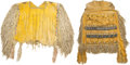 American Indian Art:Beadwork and Quillwork, AN APACHE GIRLS BEADED HIDE PUBERTY OUTFIT. c. 1915... (Total: 2Items)