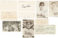 Baseball Collectibles:Others, Baseball Legends Signed Memorabilia Lot of 10....